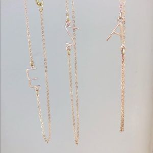 Jewelry - Personalized Letter Necklace